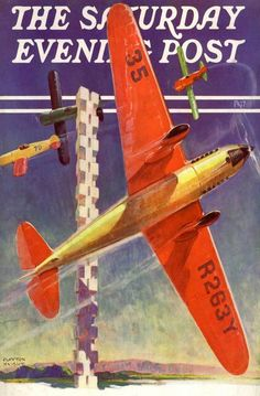 FP-1937 AIR RACE AVIATION ART DECO POSTER FLYING MONO PLANE SPORTING AIRPLANE | eBay