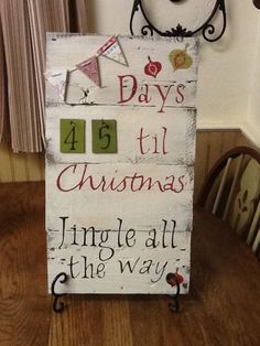 Cute Christmas Countdown Sign