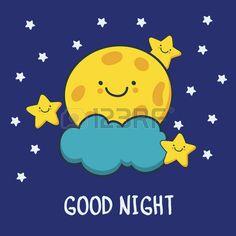 Funny Good Night Drawing - Quotes 4 You Good Night Cards, Good Night Funny, Good Night Greetings, Good Night Wishes, Good Night Sweet Dreams, Good Night Moon, Good Night Image, Good Morning Messages, Good Morning Good Night