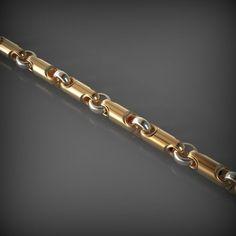 chain link 63 model stl 1 – Jewerly World Mens Gold Bracelets, Arm Bracelets, Sterling Silver Bracelets, Gold Chain Design, Silver Earrings Online, Gold Chains For Men, Jewelry Model, Gold Set, Bracelet Designs