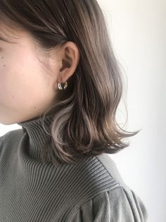 Hair Inspo, Hair Inspiration, Medium Hair Styles, Short Hair Styles, Hidden Hair Color, Ash Brown Hair, Asian Short Hair, Permed Hairstyles, Shoulder Length Hair