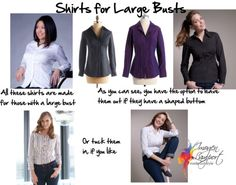 Reader Question: How to Wear a Blouse or Shirt with a Large Bust