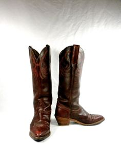 Vintage 1980's Frye High Heel Tall Riding by PacificWonderland, $150.00