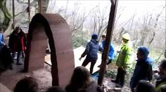 rammed earth stabilised landscape construction - YouTube