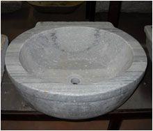 Catalogo_lavandini COD: L36   Antico Lavello Da Bagno In Marmo Grigio  EPOCA: 1800