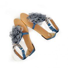 Bloem Platte Sandalen