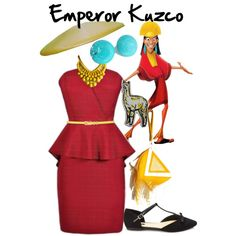 Emperor Kuzko Disneybound by ashleycottoncandy on Polyvore featuring Forever 21 and M&Co