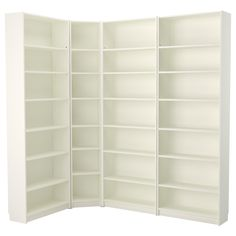 BILLY Bookcase - white - IKEA one 31 inch wide and one 15 inch wide in the corner  Could add a height extension to each one