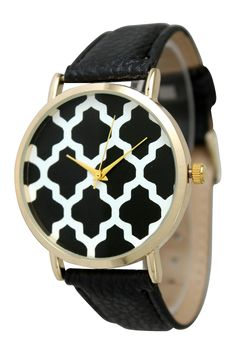 Cute Black and White Watch | HauteLook