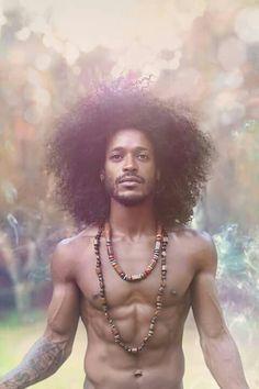 Natural naked black male