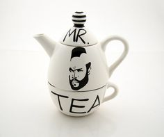 I so want to drink tea from a Mr Tea mug while wearing my Mr T shirt.