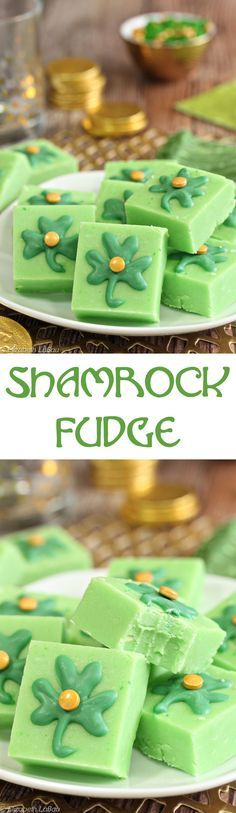 Shamrock Fudge - minty green fudge for St. Patrick's Day! | From http://candy.about.com