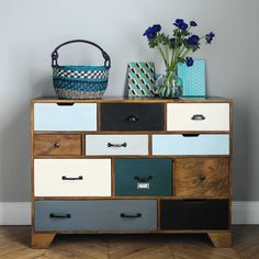 Solid mango wood vintage cabinet W Shabby Chic Furniture, Rustic Furniture, Vintage Furniture, Painted Furniture, Plywood Furniture, Modern Furniture, Diy Furniture Projects, Furniture Makeover, Furniture Design