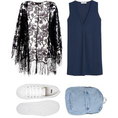 Untitled #610 by yochett on Polyvore featuring polyvore fashion style MANGO Pussycat ASOS American Apparel