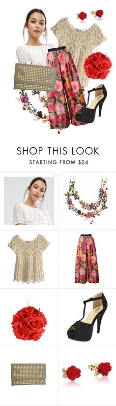 """Roses"" by chicastic ❤ liked on Polyvore featuring ASOS, Les Néréides, Calypso St. Barth, Bill Blass and Disney"