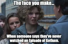 It confuses me a lot when people don't watch #Gotham