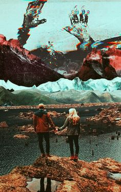 The Glitch Of Being Together. Surreal Mixed Media Collage Art By Ayham Jabr.