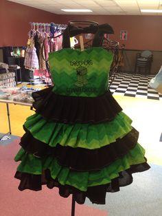 Mine craft creeper Halter top ruffle dress by GlitterSparkleBowtiq, $45.00