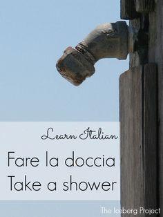 Learn Italian: Fare la doccia - Take a shower