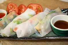 All-Vegetable Wraps : Carrots, Cabbage, Beans, Potatoes in Vietnamese Rice Paper on http://asianinamericamag.com
