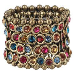 Glamour Rock Bracelet ($16) ❤ liked on Polyvore featuring jewelry, bracelets, accessories, women, rock jewelry, forever 21 jewelry, beaded jewelry, beading jewelry and rocker jewelry