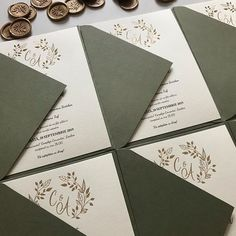 This invitation suite I created in autumn as a part of the collection and I am very glad that a lot of people are liking it. Pocket Invitation, Invitation Envelopes, Floral Invitation, Invitation Suite, Green Wedding Invitations, Elegant Invitations, Wedding Stationary, Custom Invitations, Black Envelopes