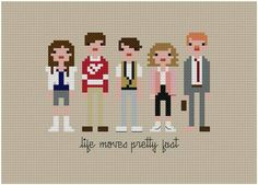 Cool pop culture pixel art from movies and tv shows!