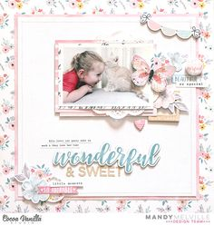 Hi friends! Today I'm sharing a layout that I created for Cocoa Vanilla Studio using the stunning new More than Words collection! I ju...