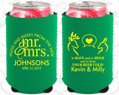 Hugs and Kisses from the new Mr and Mrs, Neoprene Wedding, To Have and To Hold Wedding, Neoprene Wedding Favors (250)
