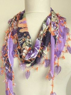 Traditional Flowers YEMENI Turkish Oya Scarf by asuhan on Etsy, $19.80