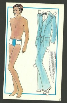 Robert Redford 1974 Vintage Paper Doll