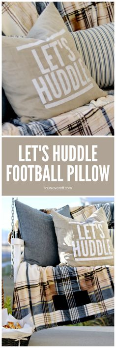 let's huddle football pillow