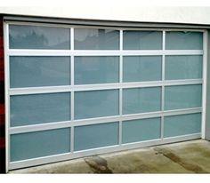 Modern glass garage door modern doors flair pinterest glass full view aluminum white laminated glass garage door planetlyrics Images