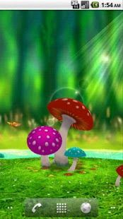 3D Mushroom Garden - Free Android Live Wallpaper App Free Live Wallpapers, Car Wallpapers,