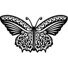 Silhouette Design Store - View Design #146594: tribal butterfly