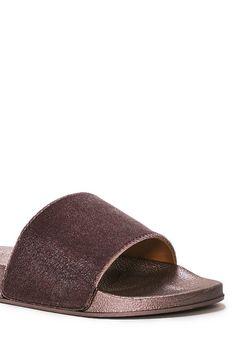 The Soft Parade Velvet Slide Sandal Rubber Sandals, Slide Sandals, Nice Dresses, Flip Flops, Slippers, Velvet, Style Inspiration, Flats, Band