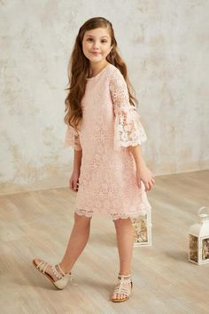 """Shop Chasing Fireflies for our Girls Chantilly Lace Dress. Gowns For Girls, Little Girl Dresses, Girls Dresses, Flower Girl Dresses, Summer Dresses, Winter Fashion Outfits, Kids Fashion, Fashion Dresses, Outfit Winter"