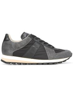 Black Retro Runner Sneakers. Mens TrainersMaison Martin MargielaRunnersSuede  ...