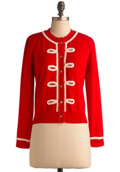 Marching band cardi. From Modcloth