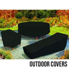 Winter is here so why not keep your outdoor furniture in good condition this season! Check out these black vinyl furniture covers today. Outdoor Furniture Covers, Outdoor Cover, How To Clean Furniture, Winter Is Here, Vinyl Cover, Picnic Table, Ottoman, Patio, Seasons