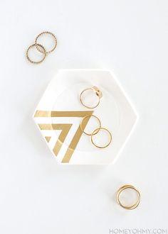 Hexagon Ring Dish DIY
