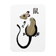 Year of the Rat iphone Case - fancy gifts cool gift ideas unique special diy customize Chinese Zodiac Rat, Chinese Astrology, Rat Zodiac, Rat Tattoo, Cute Rats, Chinese Brush, Year Of The Rat, Pebble Painting, Chinese Painting