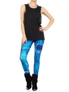 """Women's """"Shark Frenzy"""" Leggings by Poprageous (Blue) #Inkedshop #shark #ocean #sharks #fish #leggings #seacreatures #blue #fashion"""