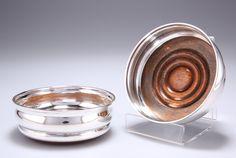 Bid Now: A PAIR OF ELIZABETH II SILVER COASTERS,Birmingham 1967, circular with turn - March 6, 0121 10:00 AM GMT Cast Iron Bench, March 6, Elizabeth Ii, Birmingham, Dog Bowls, Silver Plate, Coasters, Auction