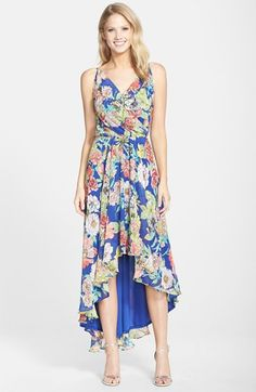 KUT from the Kloth Floral Print Chiffon High/Low Dress available at #Nordstrom