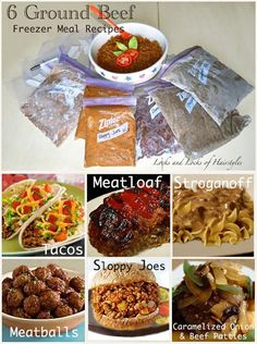 Home Made Doggy Foodstuff FAQ's And Ideas Perfect Fast And Super Easy Double The Recipe And Freeze Half For Next Time 6 Ground Beef Freezer Meal Recipes Beef Freezer Meals, Freezer Friendly Meals, Freezer Cooking, Crock Pot Cooking, Freezer Recipes, Crockpot Meals, Bulk Cooking, Plan Ahead Meals, Make Ahead Freezer Meals