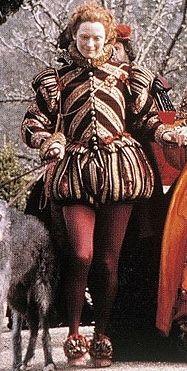 Orlando's Red outfit. (Orlando, 1992).
