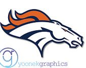 Denver Broncos in FULL COLOR Decal Sticker For Car window, Laptop, Motorcycle, Walls, Mirror and more.. sku 414