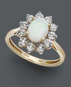 Beautiful Opal Engagement Ring