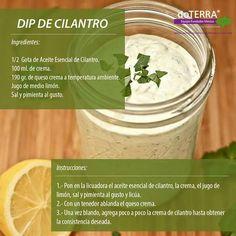 Receta para Dip de cilantro con aceites DoTerra